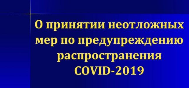 Поручение Председателя Правительства Российской Федерации Мишустина М.В. о принятии мер по предупреждению распространения новой коронавирусной инфекции