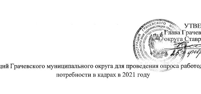 Перечень организаций Грачевского муниципального округа для проведения опроса работодателей о потребности в кадрах в 2021 году